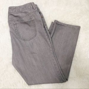 Chico's gray gold sparkle stretch jeans 16